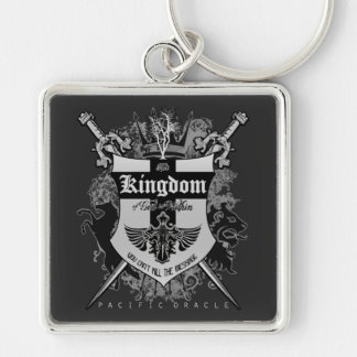 The Kingdom Within Silver-Colored Square Key Ring