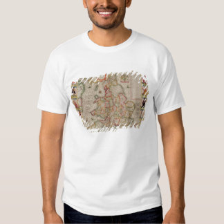 The Kingdome of England, engraved by Jodocus T-shirts