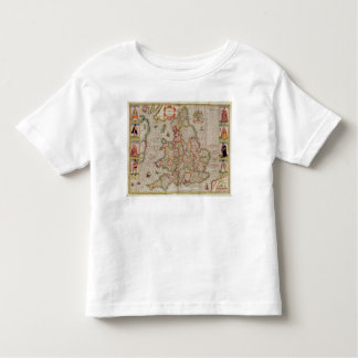 The Kingdome of England, engraved by Jodocus Tshirt