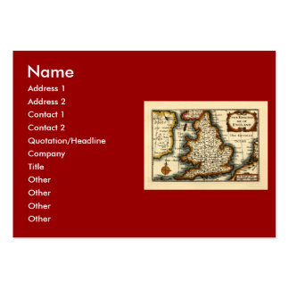 The Kingdome of England Historic Map Business Cards