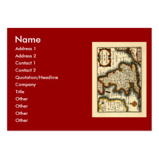 The Kingdome of England Historic Map Pack Of Chubby Business Cards