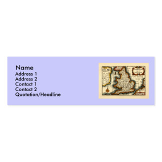 The Kingdome of England Historic Map Pack Of Skinny Business Cards