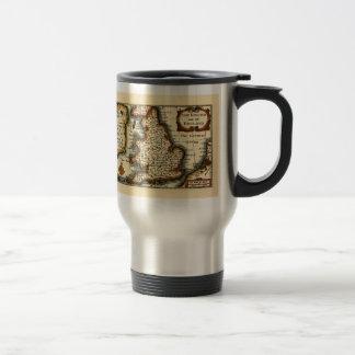 The Kingdome of England Historic Map Travel Mug
