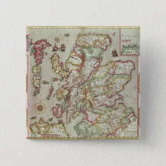 The Kingdome of Scotland, engraved by Jodocus 15 Cm Square Badge