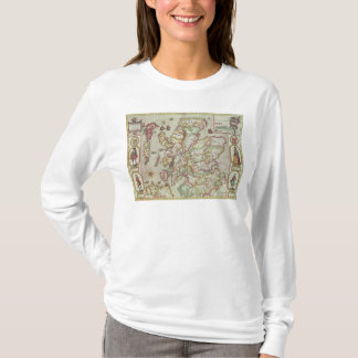 The Kingdome of Scotland, engraved by Jodocus T-Shirt
