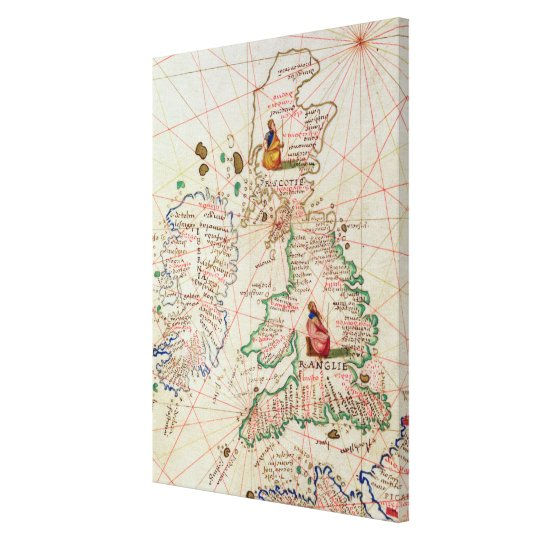 The Kingdoms of England and Scotland Canvas Print
