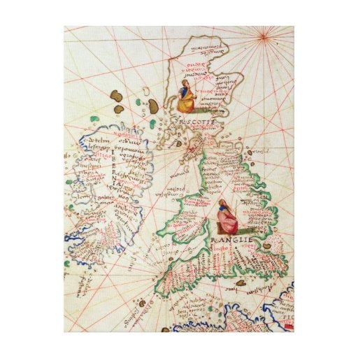 The Kingdoms of England and Scotland Stretched Canvas Prints