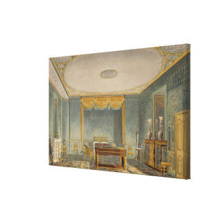 The King's Bedroom, from 'Views of the Royal Pavil Stretched Canvas Prints