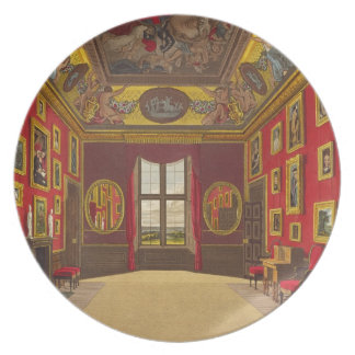 The King's Closet, Windsor Castle, from 'Royal Res Dinner Plates