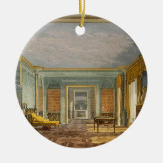 The King's Library from Views of The Royal Pavilio Round Ceramic Decoration