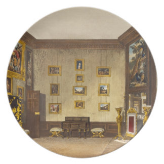 The King's Writing Closet, Hampton Court, from 'Th Plates