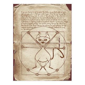 The Kinky Vitruvian Kitty Postcard