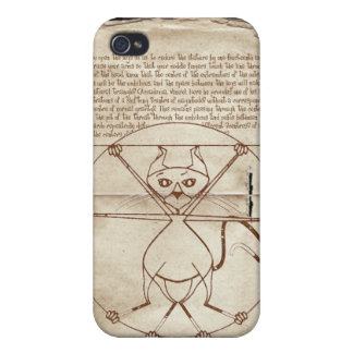 The Kinky Vitruvian Kitty Speck Case iPhone 4 Covers