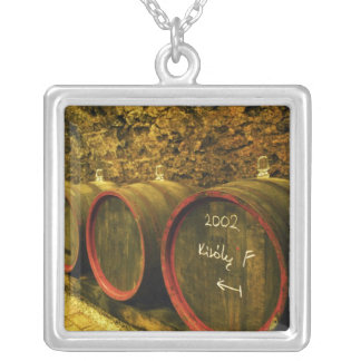 The Kiralyudvar winery: Barrels with Tokaj wine Silver Plated Necklace