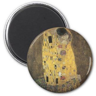 The_Kiss,_1907-08,_Gustav_Klimt 6 Cm Round Magnet