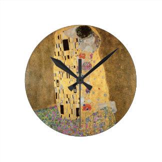 The Kiss, 1907-08 (oil on canvas) Clock