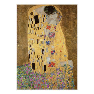 The Kiss, 1907-08 Poster