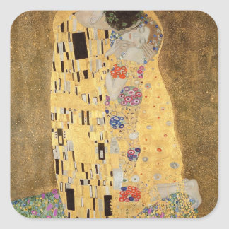 The Kiss, 1907-08 Square Sticker