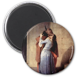 The Kiss 6 Cm Round Magnet
