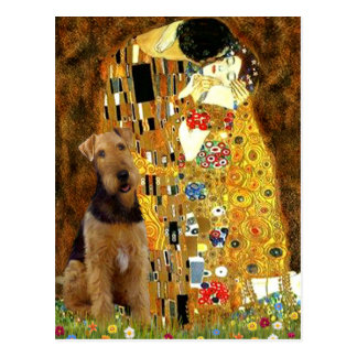 The Kiss - Airedale Terrier (#1) Postcard