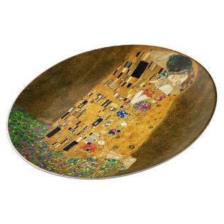 The Kiss and Gustav Klimt Porcelain Plate