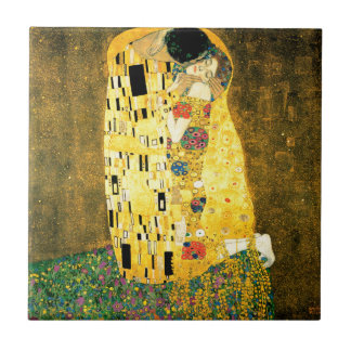 The Kiss by Gustav Klimt Art Nouveau Small Square Tile