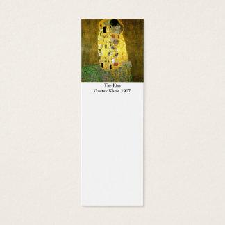 The Kiss by Gustav Klimt Bookmark Mini Business Card