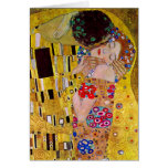 The Kiss by Gustav Klimt Cards
