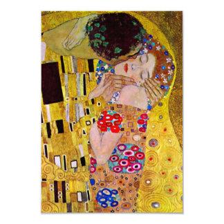 The Kiss by Gustav Klimt, Change of Address 9 Cm X 13 Cm Invitation Card