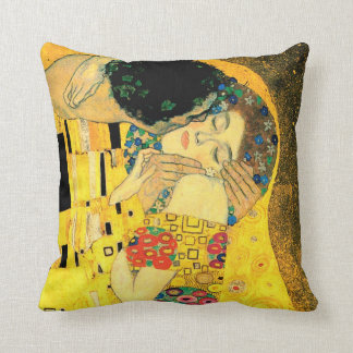 The Kiss by Gustav Klimt Fine Art Pillow Cushions