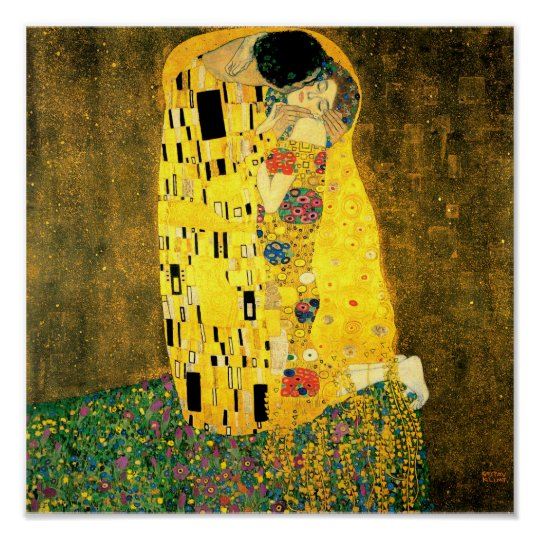 The Kiss by Gustav Klimt Fine Art Poster