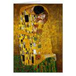 The Kiss by Gustav Klimt Greeting Cards