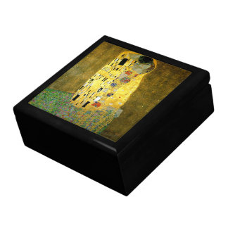 The Kiss by Gustav Klimt Large Square Gift Box