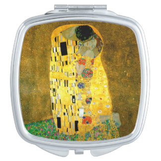 The Kiss by Gustav Klimt Mirror Travel Mirrors