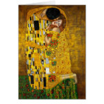 The Kiss by Gustav Klimt Note Card