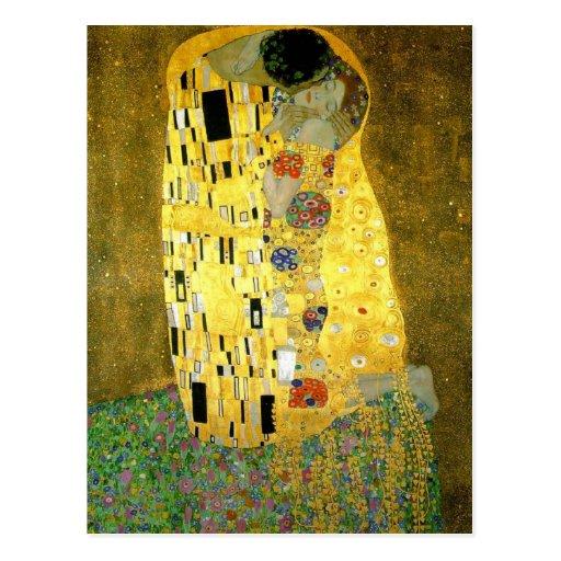 The Kiss by Gustav Klimt Post Cards