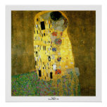 The Kiss by Gustav Klimt Posters