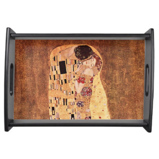 The Kiss by Gustav Klimt Serving Tray