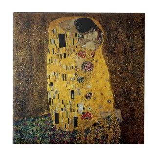 The Kiss by Gustav Klimt Tile
