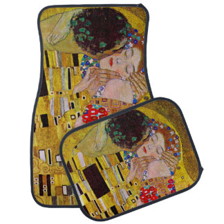 The Kiss by Gustav Klimt, Vintage Art Nouveau Floor Mat