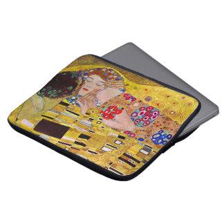 The Kiss by Gustav Klimt, Vintage Art Nouveau Laptop Computer Sleeves