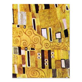 The Kiss by Gustav Klimt, Vintage Pattern Detail Custom Invite