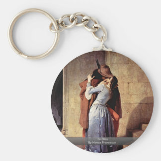 The Kiss By Hayez Francesco Basic Round Button Key Ring