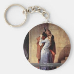 The Kiss By Hayez Francesco Key Chain