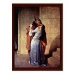The Kiss By Hayez Francesco Post Cards