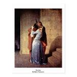 The Kiss By Hayez Francesco Postcards