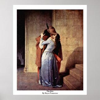 The Kiss By Hayez Francesco Poster