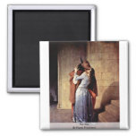 The Kiss By Hayez Francesco Refrigerator Magnet