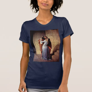 The Kiss By Hayez Francesco T-Shirt