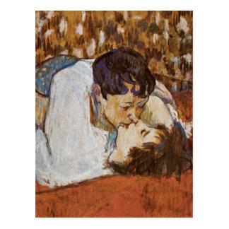 The Kiss - by Henri de Toulouse-Lautrec Postcard